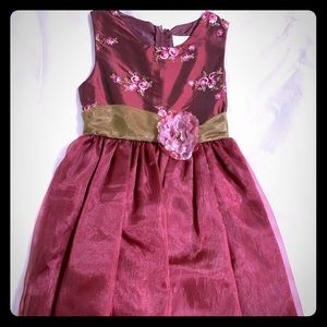 NEW Girl's Rare Editions Burgundy Size 8 Dress